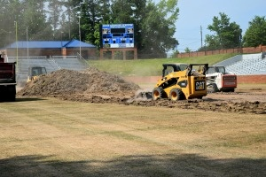 construction of duck samford sports turf